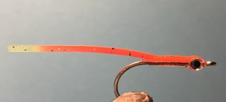 Seenadel glasseel Streamer orange